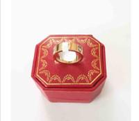 Мода Титановый сталь Розовое Золото Золотое кольцо Серебряное Любовное Кольцо Свадьба Ювелирные Изделия Долженны для женщин Мужские Кольца