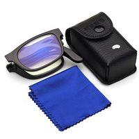Magnifier de vidrios de visión unisex lupa gafas de lectura de gafas de lectura regalo portátil para padres presbelligados 100-400 grados