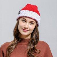 Cappelli a maglia di Natale Babbo Natale Morbido Lana a maglia Berretto a maglia Berretto a maglia Lana Pom-Pom Caps Xmas Decorazioni per feste Adulti Gifts WMQ CGy691