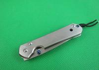 OFFRE SPÉCIALE Couteaux pliants CR 5CR15 58HRC CNC Meulage CNC Mercerizing Drop Drop Point Pince en acier inoxydable 120g