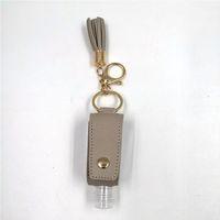 Hand Sanitizer Holder PU Leather Tassel Keychain Bottle Cover Holders Handbag Sanitizer Holder Sleeve Key Chain Bag Gift with Bottle DDC5236