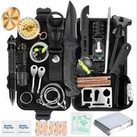 Kit de herramientas de supervivencia de emergencia EDC multifunción Equipo de herramientas de almacenamiento Táctico SOS Táctico para caminatas Caza de camping