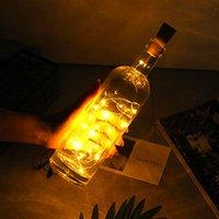 livre de entrega 2m 20 LED Mini Bottle Stopper Lâmpada de Cordas Bar Luz Decoração de Cordas branco quente luz amarela Terra de material de alta qualidade
