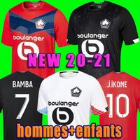 2020 2021 Losc Lille Soccer Jerseys David Fonte Bamba Yazici Camicia da calcio 20 21 Lille Olympique Jikone 10 # Maillot Hommes Enfants Kit per bambini