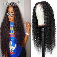 Cheveux Brésiliens Kinky Cheveux Humains Curly 13x1 Dentelle Perruques avant avec des cheveux de bébé Prefly Remy Virgin 150% Densité 10-30 pouce pas cher