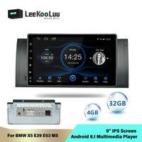 자동차 오디오 Leekooluu 안드로이드 8.1 스테레오 Autoradio for x5 E39 E53 M5 4GB 32G ROM 옥타 코어 InDash 9 ''WiFi GPS 2Din 라디오