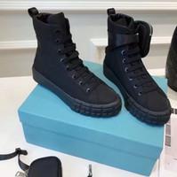 مصمم عجلة Re-Nylon أحذية رياضية الرجال عالية أعلى أحذية رياضية المرأة منصة الدانتيل متابعة قماش عارضة أحذية بيضاء أسود القتالية أحذية مع حقيبة 260