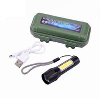 Cheap Cob Led Flashlight USB аккумуляторной горелки освещает факел Housy мощный фонарик супер яркий с встроенным USB-кабелем аккумулятора