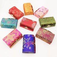 هدية التفاف 12 قطع الإبداعية البسيطة الصينية الزفاف العروس لصالح الحلوى الشوكولاته صناديق الحرير الديباج مرآة مجوهرات حالة الشفاه أنبوب تخزين الشفاه