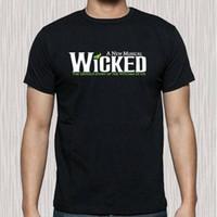 gömleklerinin erkek Yeni Wicked Broadway Müzikal Show Logo Erkek Siyah Tişörtlü Boyut S için 3XL t 2020 yeni tasarımcılar