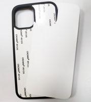 TPU + PC Blank 2D Сублимация Дело теплопередачи телефон Случаи с алюминиевыми вставками для iPhone 12 Mini 11 XS XR 8 Plus Samsung A21
