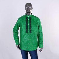 남성용 드레스 셔츠 클리어런스 세일 M 사이즈 남성 아프리카 셔츠 스마트 인과 공식 블레이저 파티 웨딩 비즈니스 WYN565-XH1