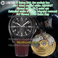 Ewigkeit ZFF 2021 Neue Produkte Born Cal.324 sc Automatisches Zifferblatt Schwarz Gift Carbon (DLC) Fall 5167 Herrenuhr Braun Gummi-Gurt 001