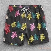 Herren Sommer Schwimmen Kurzer Vilebrequin Bermuda Beach Kleidung Schildkröten Neueste Casual Männer Stil