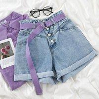 Shorts pour femmes Yocalor Vintage High Taille High Securing Denim Femmes 2021 Style coréen Casual Jeans Summer Pantalons Short Femme