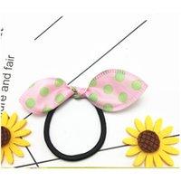 Cinta Punto de goma Accesorios para el cabello Adornos de cabello Chicas Anillo Elástico Caucho Color aleatorio Diadema Niños Headwear LJ201226