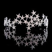 Kristallstern Tiara Krone Hochzeit Braut Strass Krone Stirnband Braut Kopfschmuck Kopfschmuck Frauen Mädchen Haarschmuck Zubehör