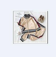 Kinder Frühling Herbst Kleidungsstück Baby Jungen Mädchen Reißverschluss Hoodies 2 Stück / Set Kinder Langarm Twinsets Trainingsanzug