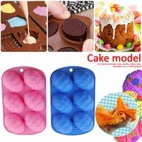 6 Cavidade Easter Egg Forma Cozimento Molds Bandeja De Silicone Molde Silicone Bolo De Chocolate Baking Moldes Silicone Bakeware Acessórios