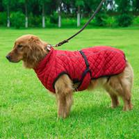 Cão Ao ar livre jaqueta à prova de vento reflexivo segrejado animal de estimação colete de inverno roupas de algodão morno para grandes cães do meio JK2012PH