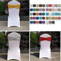 Sequin Organza Chair Covers Sashes Band Wedding Tie Backs Pr...