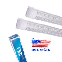 8 피트 LED 샵 조명, 8 피트 쿨러 도어 냉동고 LED 조명기구, 2 행 72W 7200LM, 형광등 튜브 조명