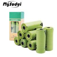Mysudui Rolls biodegradable PET PET POOP BOLSA Bolsa de basura amigable con la tierra Fugas a prueba de fugas Bolsas de basura para perros Limpieza al aire libre 201111