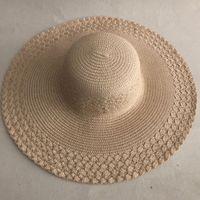 Lvtzj verão palha mulheres grandes borda larga praia dobrável sol dobrável protetora UV Panamá chapéu ósseo Chapeu feminino lj200910