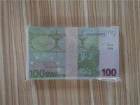 2021 Vendita calda Prop Money EUR 10/10/50/100/200/500 Carta Copia banconota Pop Soldi 100pcs / Pack 32