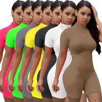 SEXY SKINNY SPORTS Jumpseau de Skinny Femmes Élasticité Haute Élasticité Respirant Fitness Rompers Mode Casual Couleur Solid Couleur Femmes Bodysuits