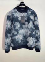 20sses automne et hiver gris abstrait personnage mode vapeur pull en laine tricotée coton hommes femmes couple colle couvre sweat-shirt zdll1221.