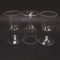6Oz-Einweg-Becher Kunststoff transparent Rotweinglas-Party-Lieferungen 180ml Hartkunststoff-Becher XD24424