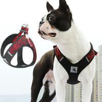 6 ألوان كلب كلب تسخير الأزياء نسج تنفس الكلاب الحيوانات الأليفة يسخر للكلاب متوسطة و كبيرة dhl شحن مجاني