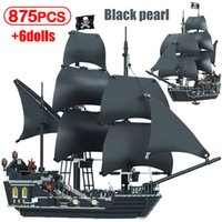 Черный жемчужный корабль пиратские корабли 4184 4195 пиратов модель карибсообразованных строительных блоков кирпичи подарки на день рождения детские игрушки LJ200928