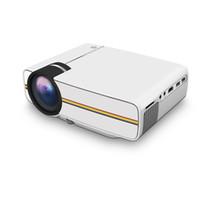 YG400 Multimedya Taşınabilir Mini LED Projektörler 1000 Lümen Tiyatro PC USB AV VGA SD Ev Sinema Projektör Için