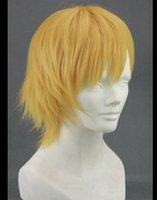 가발 짧은 금발 노란색 30-35cm, 코스프레 Kuroko 아니 Basuke Kise Ryota