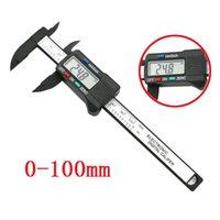 Outils à la main professionnelle Ensembles à la main de 100 mm / 4 pouces LCD numérique électroniques électroniques de carbone vernier calibre de calibre Micromètre Outils de mesure d'outils de mesure # W3