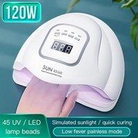 120W Smart UV Светодиодная лампа для лампы для лампы для ногтей Timed Manicure Фототерапевтический аппарат