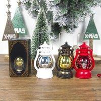 Linterna LED Lámpara de Navidad Vintage Retro Holiday Colgante Candlellight Feliz Navidad Año Nuevo Luces LED portátiles PPD2880