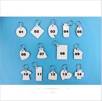 빈 승화 열쇠 고리 열쇠 고리 홀더 MDF 나무 양면 열 전송 열 인쇄 DIY 사진 키 반지 펜던트 선물 E120302