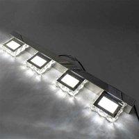 Heißer Verkauf 6W Doppellampe Kristallfläche Badezimmer Schlafzimmerlampe Weiß Licht Silber Nodic Art Decor Beleuchtung Moderne Wasserdichte Wandleuchten