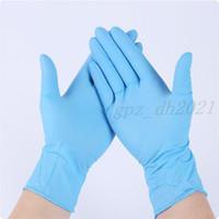 В наличии 100 шт. Одноразовые перчатки Нитриловые латексные перчатки для мытья посуды Домашнее обслуживание Кейтеринг Гигиена Кухня Садовые Перчатки Оптовые