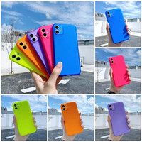 Fluorescent Color Clear Shockproof Phone Case For iPhone 12 ...