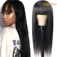 150% density Straight Human Hair Wigs for Women Fake Scalp L...