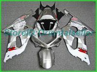 Пользовательский серебристый черный комплект обтекателя AE09 для Suzuki GSXR 600 750 K1 2001 2002 2003 GSXR600 GSXR750 01 02 03 Комплект мотоциклов