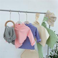 Prix usine Petites filles Fashions Fashions à manches longues Vierge Girls coréenne perle design T-shirt enfants à manches longues pour 1-7t 541 k2