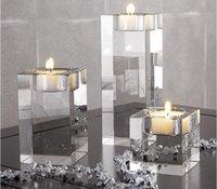 Candelabro europeo para el vidrio que engrose la decoración a prueba de viento Candlestick Glass Romántico dentro de la bola de cristal de la boda Jlltt Yummy_shop