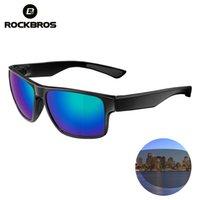 Rockbros Polarisierte Brille Brillen Radfahren Fahrradbrillen UV400 Mountain Road MTB Laufende Fischerei Sonnenbrille