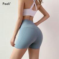 Peeli Push Up спортивные шорты женщины фитнес спортивная одежда добыча йоги шорты быстрого сухого прибоя тренировки тренировочные шорты бегущие активные носить T200412