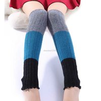 Knie Hohe Beinwärmer Strümpfe Strümpfe Boots Socken Frauen Winter Socken Leggings Frauen Kleidung Will und Sandy Drop Ship